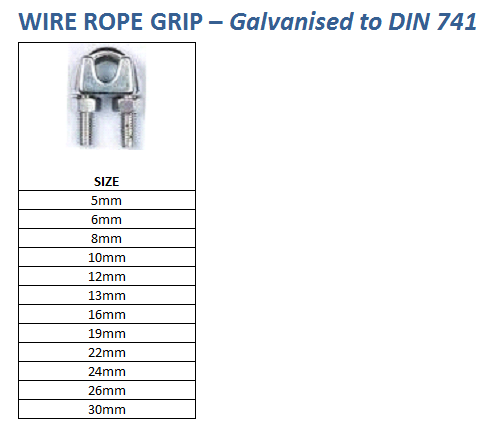 wire rope grip